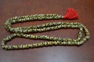 Brown Skull Tibetan Buddhish Bone Mala Prayer Beads 8mm