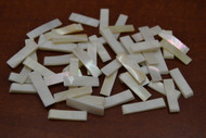 White Rectangle Mother of Pearl Shell Blanks