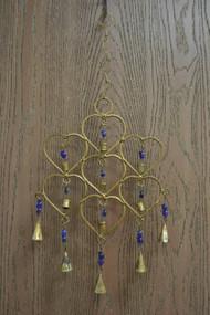 Handmade Purple Heart Rusty Iron Metal Bells Windchime