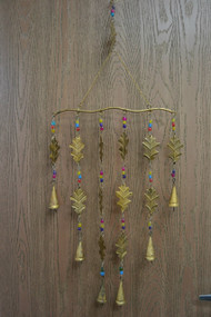 Handmade Leaf Rusty Iron Metal Bells Windchime