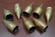 "Handmade Rusty Iron Metal Farm Bells 3 1/2"""