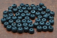 Black Plain Round Bone Beads 8mm