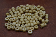 Coffee Brown Round Plain Bone Beads 6mm