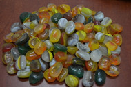 35 Pcs Assort Glass Stone Pebbles Garden Fish Tank Aquarium 1 Lb