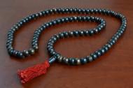Black Tibetan Buddhish Buffalo Bone Mala Prayer Beads 10mm