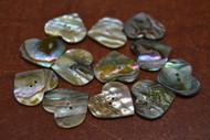 "12 Pcs Heart Abalone Shell Sewing Buttons 5/8"""