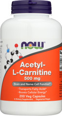 Acetyl-L Carnitine 500 mg - 200 Vcaps®