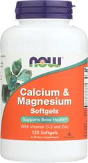 Calcium & Magnesium - 120 Softgels