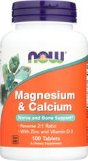 Magnesium & Calcium - 100 Tablets