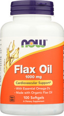 Flax Oil 1000 mg - 100 Softgels