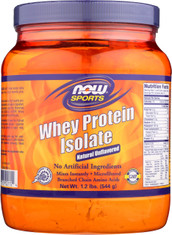 Whey Protein Isolate Natural Unflavored - 1.2 lb.
