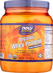 Whey Protein Natural Unflavored, Organic - 1 lb.
