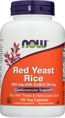 Red Yeast Rice 600 mg with CoQ10 30 mg - 120 Veg Capsules