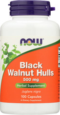 Black Walnut Hulls 500 mg - 100 Capsules