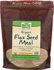Flax Seed Meal, Certified Organic - 22 oz.