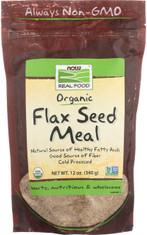 Flax Seed Meal, Certified Organic - 12 oz.