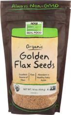 Golden Flax Seeds, Certified Organic - 16 oz.