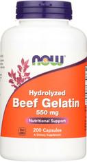 Beef Gelatin 550 mg - 200 Capsules