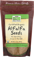 Alfalfa Seeds, Certified Organic - 12 oz.
