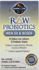 Raw Probiotics Men 50 & Wiser 90 Capsules