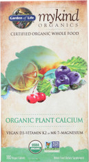 Mykind Organics Plant Calcium 180 Organic Tablets
