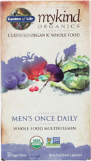 Mykind Organics Men's Once Daily 30 Organic Tablets