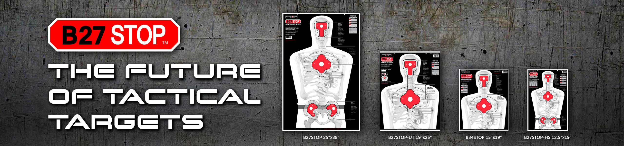 B27STOP Paper Silhouette Shooting Targets by Thompson