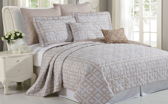 Austin Geo Quilted 7 Piece Bed spread Set