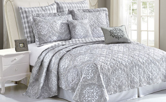 Melody Quilted 7 Piece Bed spread Set