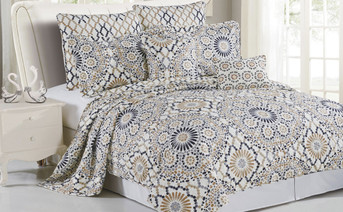 Tradewinds Quilted 7 Piece Bed Spread Set
