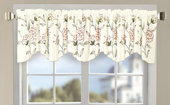 Gold Sun Flower Embroidery Window Curtain Valance