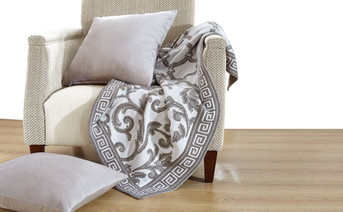 Marisol Knitted Throw & Matching Pillow Shell Combo 3 Piece Set
