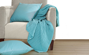 Limpet Shell Brooke Cable Throw & Pillow Shell 3 Piece Combo Set