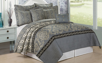Mystic Quilted 7 Piece Bed Spread Set