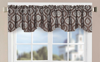 Floral Jacquard Window Curtain Valance