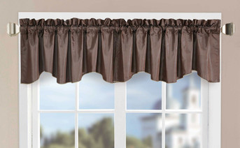 Solid Window Curtain Valance