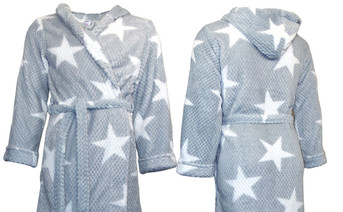 Star Flannel Bath Robe