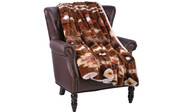 Coffee Southwest Faux Fur and Sherpa Throw Blanket