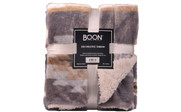 Gray Southwest Faux Fur and Sherpa Throw Blanket Retail Pack