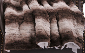 Claire Faux Fur and Sherpa Throw Blanket