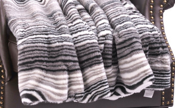 Tallulah Faux Fur and Sherpa Throw Blanket
