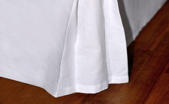 Cotton Canvas Drop Bed Skirt Corner