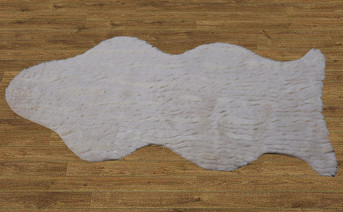 High Pile Faux Fur Rug with Slip Stopping Pad