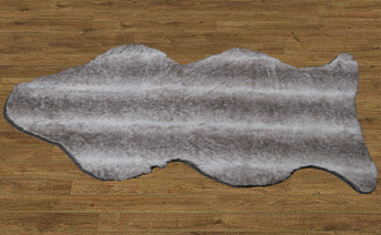 Wolf Faux Fur Rug with Slip Stopping Pad