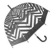 Metro Grey Clear Umbrella