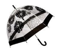 Cabbage Rose Clear Umbrella