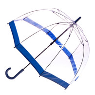 Clear with Blue Trim Umbrella