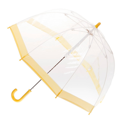 Child's Clear with Yellow Trim Umbrella