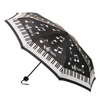 Compact Music Notes Umbrella