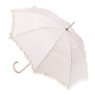 Wedding Beige Fabric Parasol